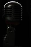 Schwarzes Mikrofon Stockfoto