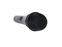 Schwarzes Mikrofon auf Weiß Lizenzfreie Stockfotografie