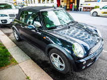 schwarzes Miniauto in Hamburg-hdr Stockbild