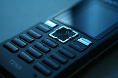 Schwarzes Mobiltelefon Stockbilder