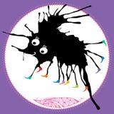 Schwarzes Monster auf einem weißen Hintergrund Lizenzfreie Stockfotografie