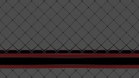 Schwarzes Mosaik mit einer roten und schwarzen Fahne Stockfotografie