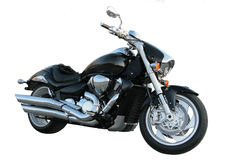 Schwarzes Motorrad. Lizenzfreies Stockfoto