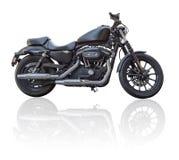 Schwarzes Motorrad Lizenzfreie Stockfotos