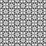 Schwarzes nahtloses mit Blumenmuster auf weißem Hintergrund Lizenzfreies Stockbild