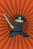 Schwarzes ninja Stockfotografie