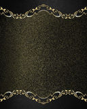Schwarzes Nummernschild des Schmutzes mit Goldrändern Element für Entwurf Schablone für Entwurf kopieren Sie Raum für Anzeigenbro Lizenzfreie Stockfotos