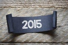 Schwarzes papper mit 2015 Stockbilder