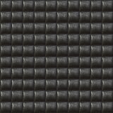 Schwarzes Polsterung-Leder-nahtloses Muster Stockfoto