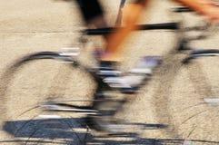 Schwarzes Rennrad Stockfotografie
