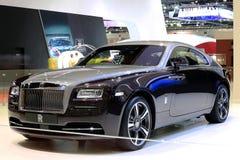 Schwarzes Rolls Royce-Luxusauto Lizenzfreie Stockfotos