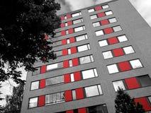 Schwarzes rotes Haus Stockfotografie