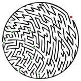 Rundes Labyrinth Stockfotografie