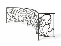 Schwarzes schmiedete dekoratives Gitter Lizenzfreie Abbildung