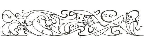 Schwarzes schmiedete dekoratives Gitter Vektor Abbildung