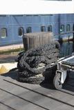 Schwarzes Seil Stockfoto