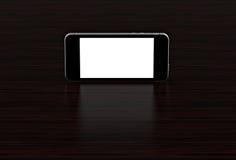 Schwarzes smartphone mit leerem Bildschirm Hoch ausführlich lizenzfreie abbildung