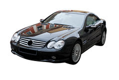 Schwarzes Sport-Auto lizenzfreie stockfotos