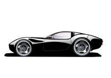 Schwarzes Sportauto Lizenzfreies Stockbild