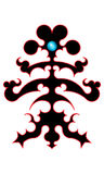 Schwarzes Stammes- Tätowierungsprojekt Lizenzfreies Stockfoto