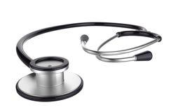 Schwarzes Stethoskop Stockbilder
