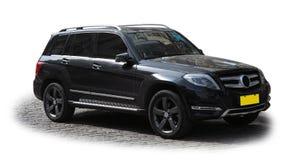 Schwarzes SUV Lizenzfreie Stockbilder