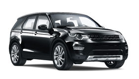 Schwarzes SUV Auto stock abbildung