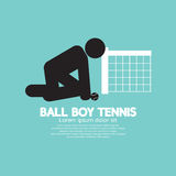 Schwarzes Symbol-Balljunge-Tennis Lizenzfreies Stockfoto