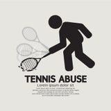 Schwarzes Symbol-grafischer Tennis-Missbrauch Stockbilder
