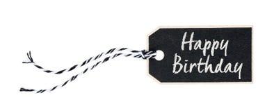 Schwarzes Tag mit Text alles Gute zum Geburtstag Stockbild