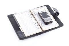 Schwarzes Tagebuch Lizenzfreies Stockfoto