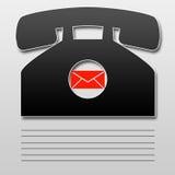 Schwarzes Telefon stock abbildung