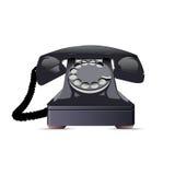 Schwarzes Telefon. Stockbild
