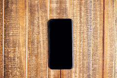 Schwarzes Telefon Stockfotografie