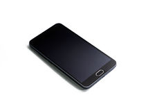 Schwarzes Telefon Stockfoto