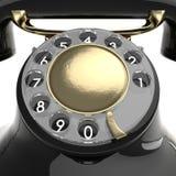 Schwarzes Telefon der Weinlese vektor abbildung