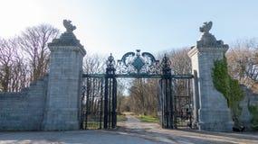 Schwarzes Tor des Loch skene Schlosses Lizenzfreie Stockbilder