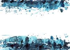 Schwarzes u. Blau lizenzfreie abbildung