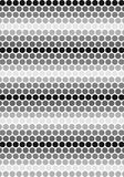Schwarzes u. weißes Kreismuster stock abbildung