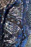 Schwarzes und blaues Sequine-Design Stockbild