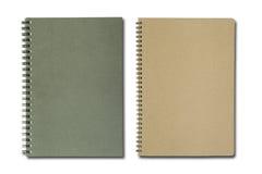 Schwarzes und braunes Notizbuch stockbild