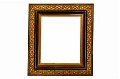 Schwarzes und Goldbilderrahmen lizenzfreies stockbild
