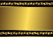 Schwarzes und goldenes Feld der Weinlese (Vektor) Stockfotografie