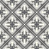 Schwarzes und graues kleines farbiges geometrisches nahtloses Muster der B?lle stock abbildung