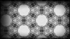 Schwarzes und Gray Vintage Floral Pattern Background-Grafik-schöne elegante Illustration vektor abbildung
