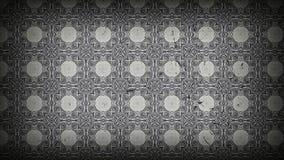 Schwarzes und Gray Vintage Floral Pattern Texture-Hintergrund-Schablonen-schöne elegante Illustration stock abbildung