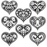 Schwarzes Valentinsgrußinneres Lizenzfreie Stockbilder
