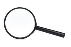 Schwarzes Vergrößerungsglas Stockbild