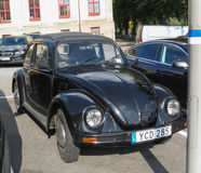 Schwarzes Volkswagen Beetle-Auto Stockbild
