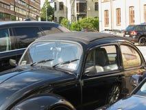 Schwarzes Volkswagen Beetle-Auto Lizenzfreie Stockfotografie